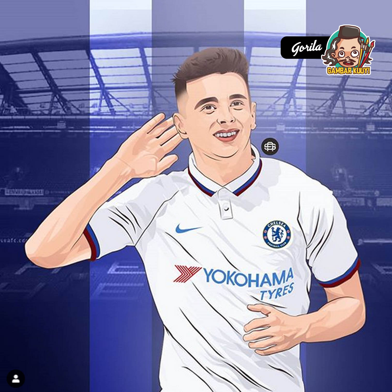 """The New Star of Chelsea""_by_@arissetyo"