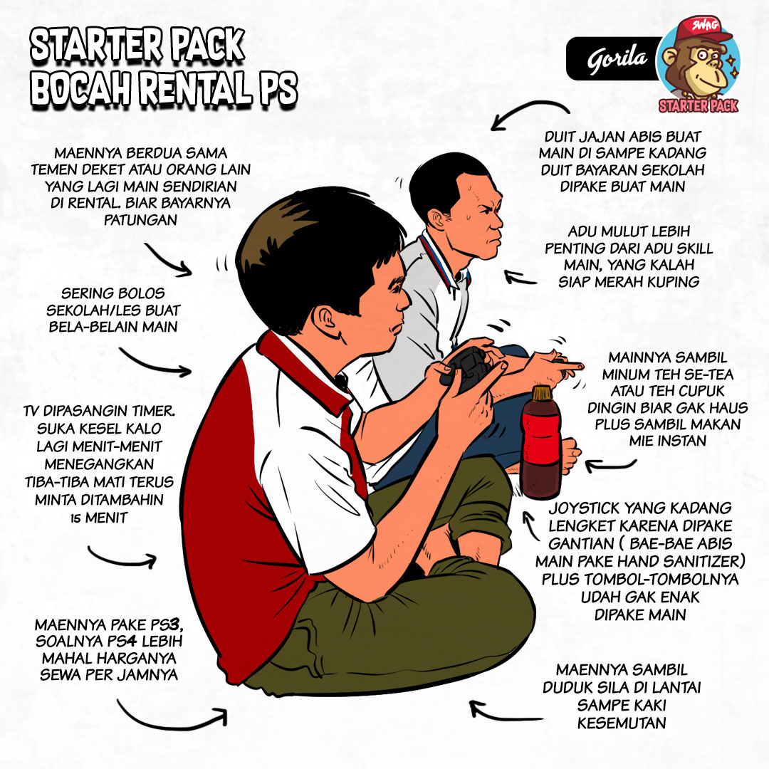 Starter Pack Atlit FIFA/PES di Rental PS