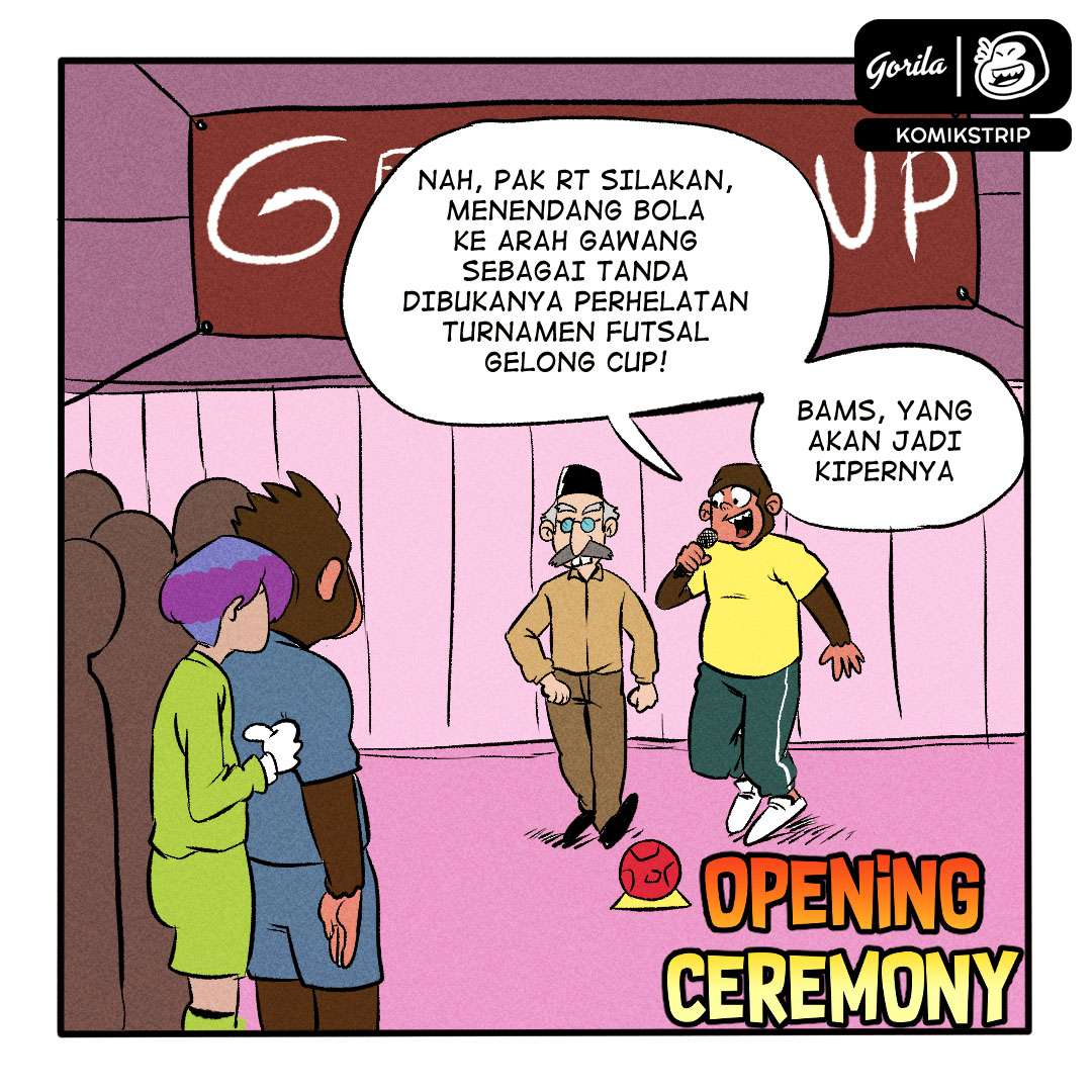 Komik Strip : opening Ceremony